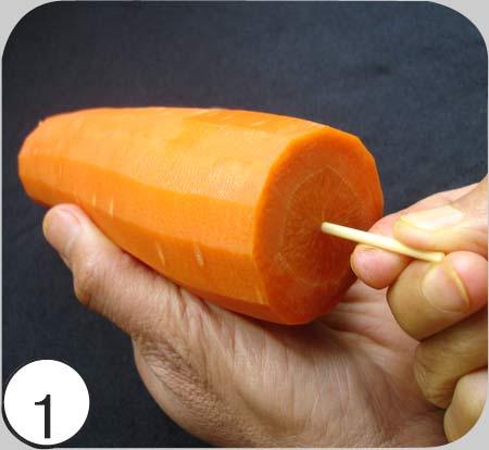 Как сделать из морковки дудочку дома