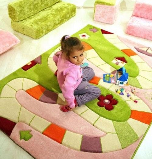 Как обустроить детскую комнату. Ковер для игр.
