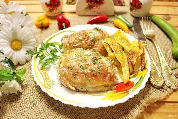 Курица в маринаде в духовке