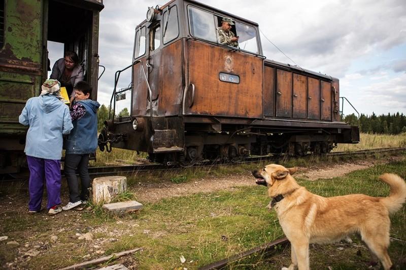 Ржавый одновагонный поезд, как символ надежды