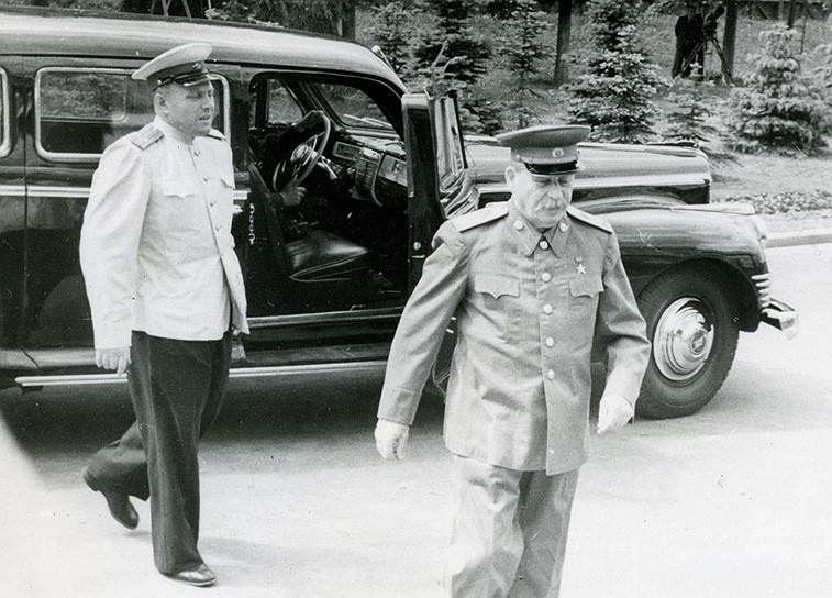ЗИС-115 и И. Сталин. Фото 1950 года авто, восстановление, зил, зис, зис-115, олдтаймер, реставрация, сталин