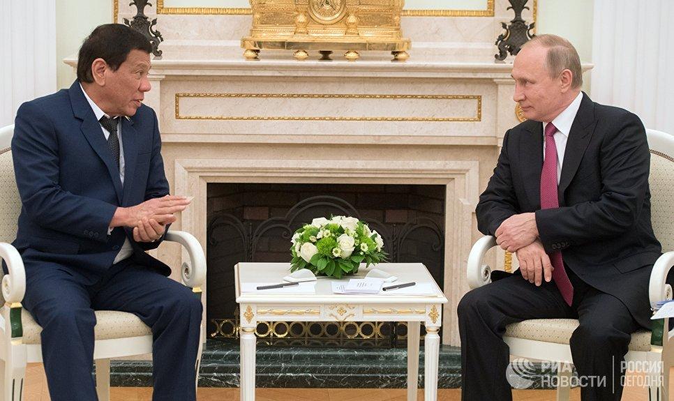 Дутерте предложил Путину дружбу и попросил современное оружие