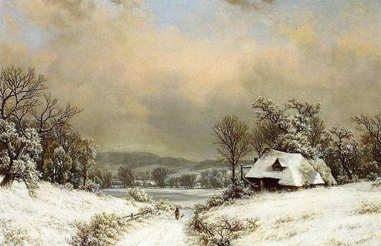 Художник William Mason Brown (1828 – 1898). Романтические пейзажи и натюрморты