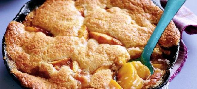 Яблочный пирог на сковороде