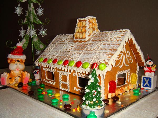 Новогодние домики из печенья своими руками