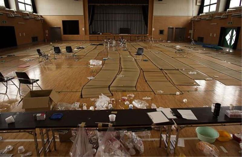 Сборный пункт зона отчуждения, радиоактивная зона, фото, фукусима, япония