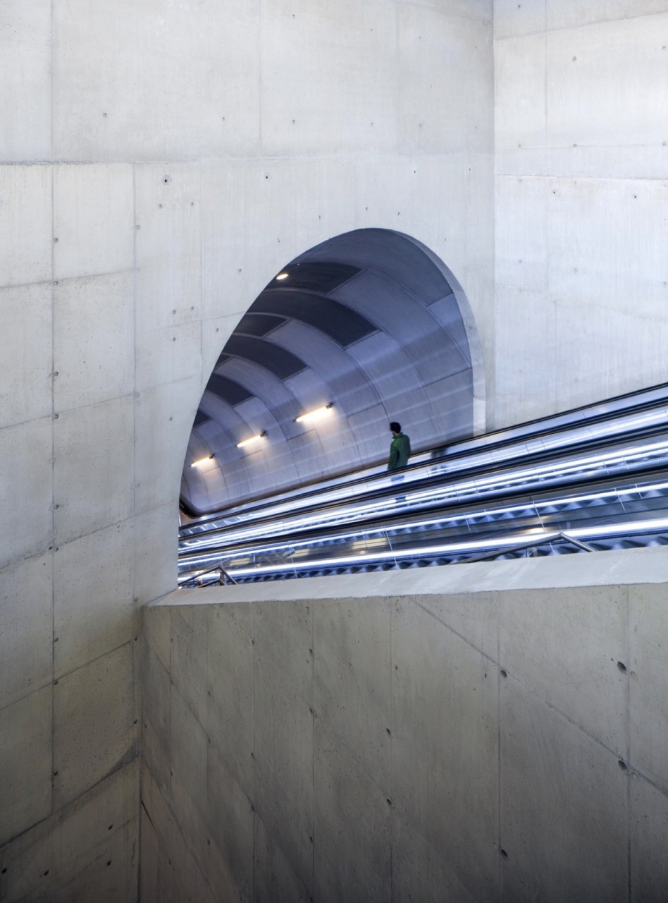 Необычный дизайн станции метро в Осло