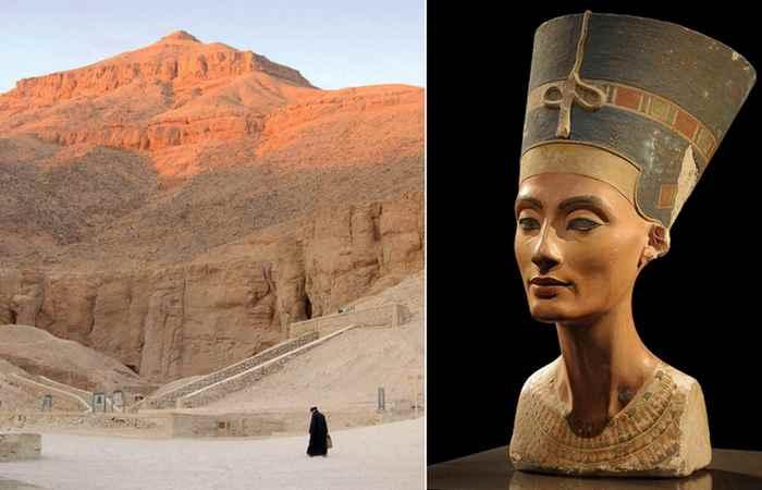 Потайные двери в гробнице фараона Тутанхамона и возможная гробница царицы Нефертити