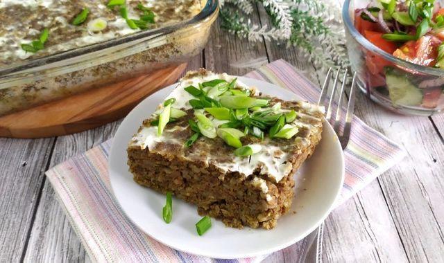 Фото к рецепту: Гречневик или гречневая запеканка с печенью