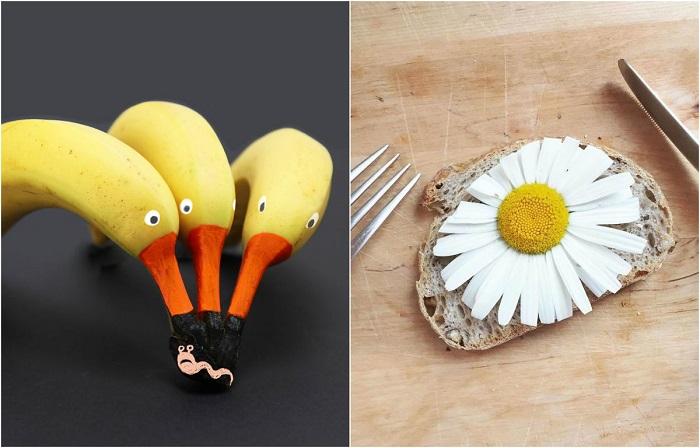 Художница создаёт визуальные истории из самых обычных продуктов