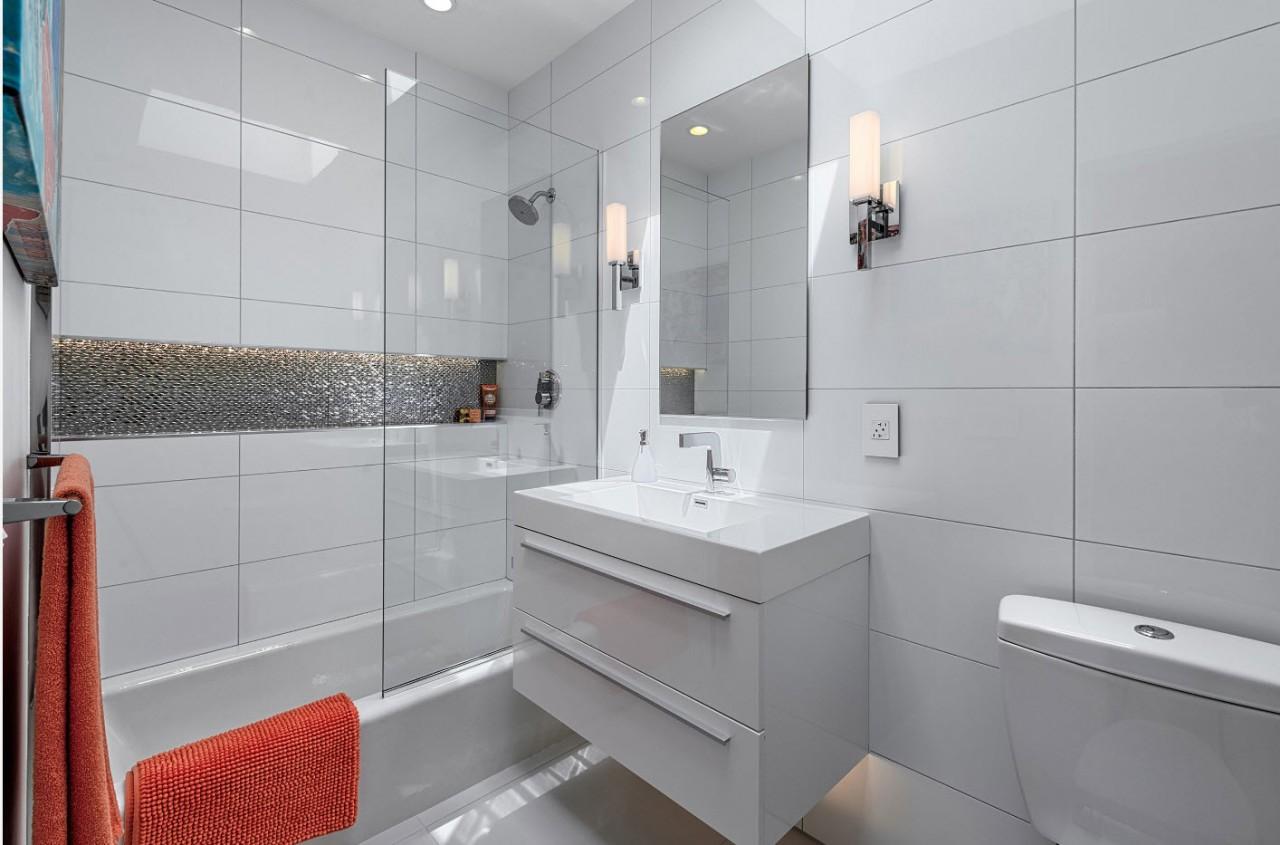 White ceramic bathroom tiles
