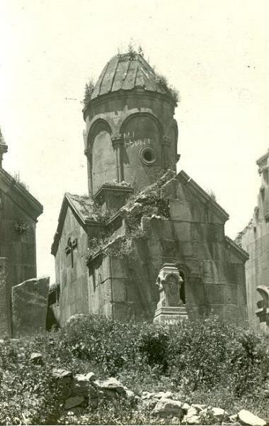 Руины церквей в Кечарисе. Армянская ССР. СССР. 1938 год.