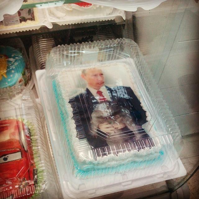 По заверению автора, внутри персики и ананас прикол, россия, торт