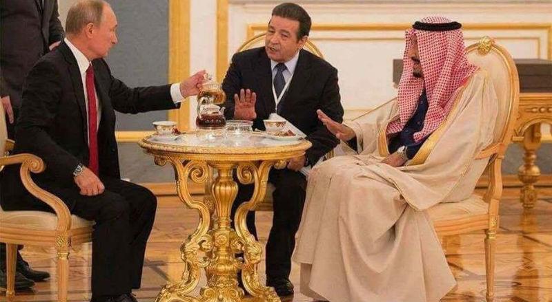 «Выпейте чаю. – Нет, спасибо. – Я не спрашивал»: чаепитие Путина с королем Саудовской Аравии превратилось в мем