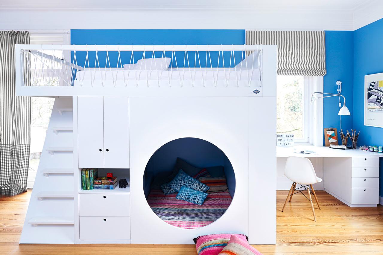 Идеи по обустройству двухъярусной кровати для детей