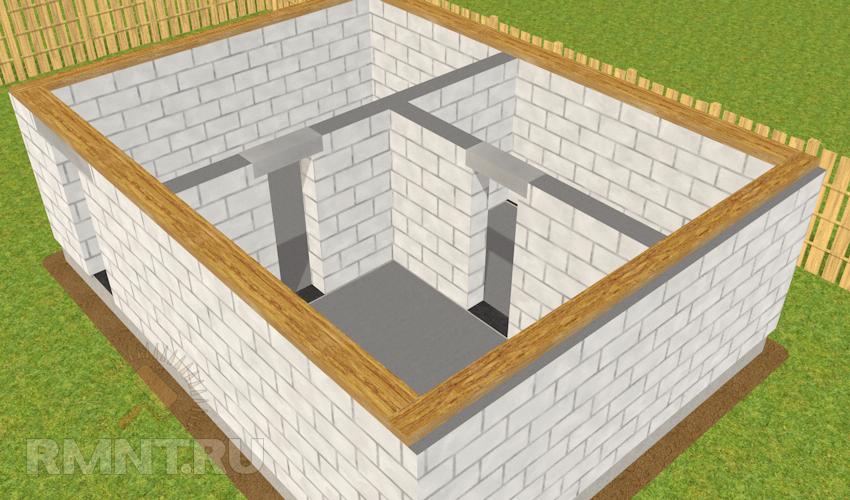Построить баню из газосиликатных блоков своими руками