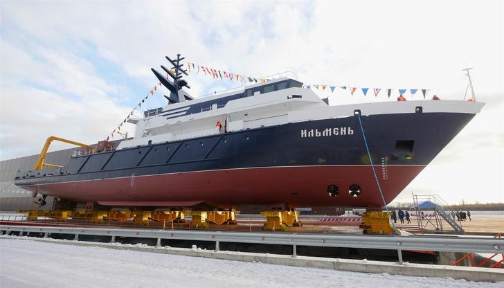 ЛСЗ «Пелла» спустил на воду судно «Ильмень»