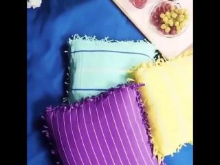 Подушка из футболки без шитья