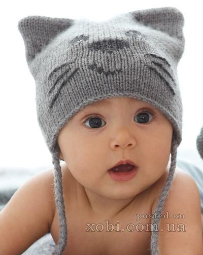 шапка для малыша Кот