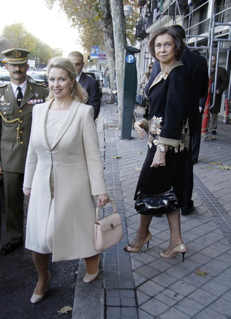 Queen Sofia and Svetlana Medvedeva Sighting In Madrid - December 5, 2011