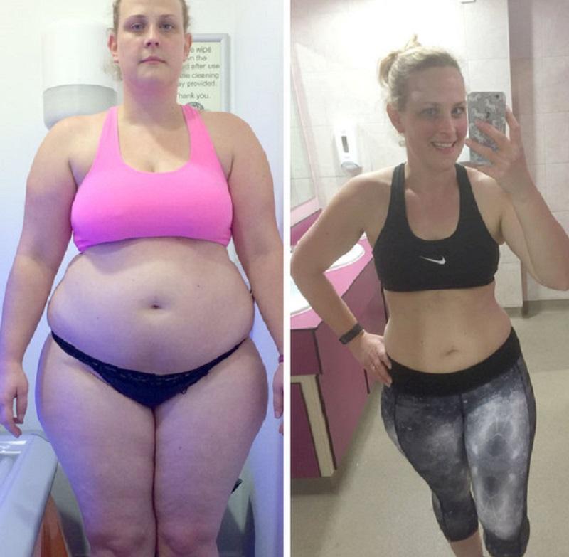 Одно незначительное изменение помогло ей похудеть на 34 кг всего за 1 год!