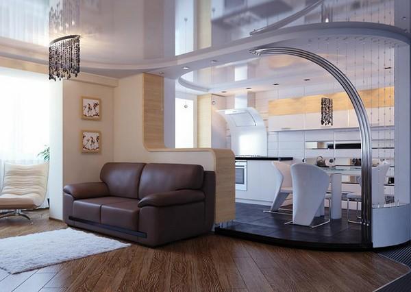 Идеи кухни совмещенной с гостиной и столовой зоной