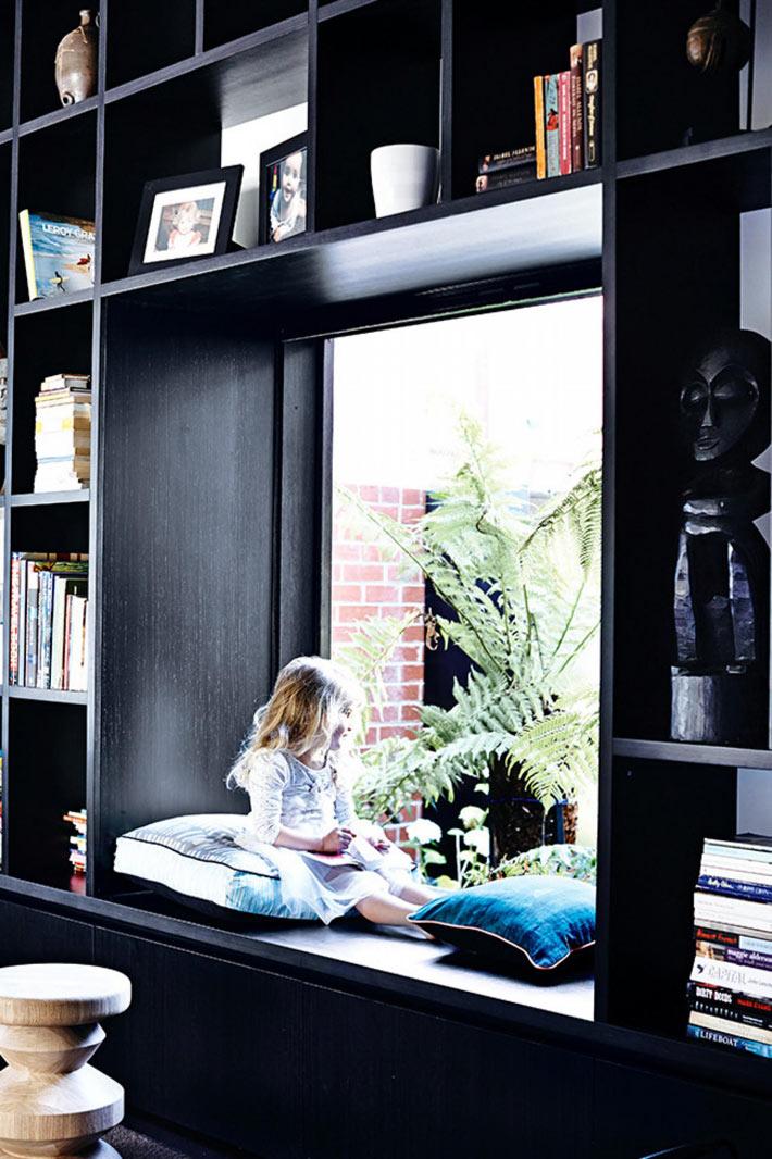Attic floor to ceiling windows perfect reading spot