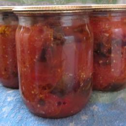 Нестандартный салат из баклажанов с медом и чесночком
