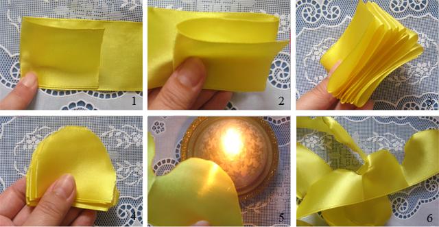Как сделать простую розу из ленты