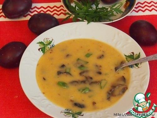 Чешский фасолевый суп с черносливом