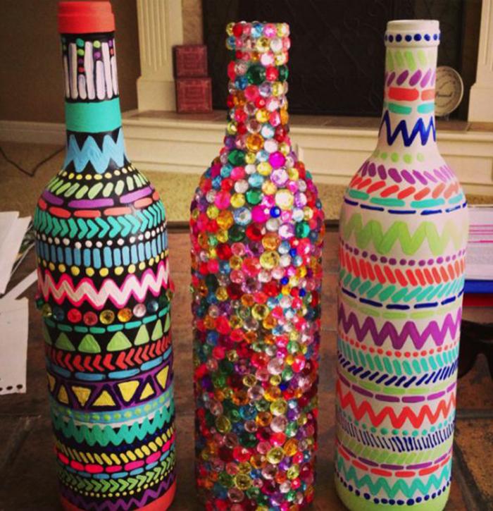 Из стеклянных бутылок поделки своими руками
