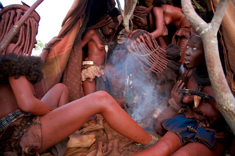 Naked tribal women