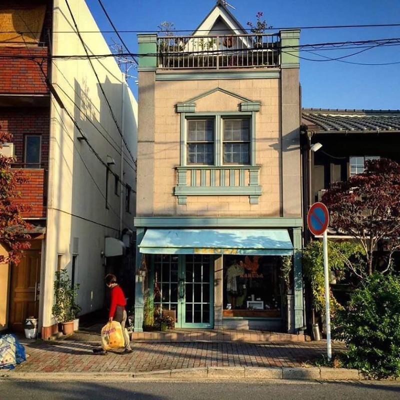 День вывоза мусора архитектура, дома, здания, киото, маленькие здания, местный колорит, фото, япония