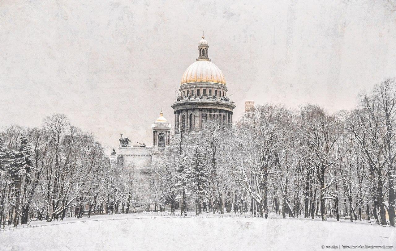 Зима В Санкт-Петербурге. Фотограф Максим Лановой и Эдуард Гордеев.