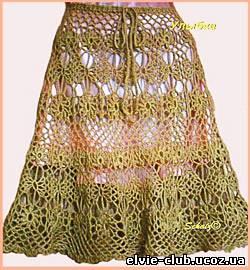 Вязанные крючком юбки