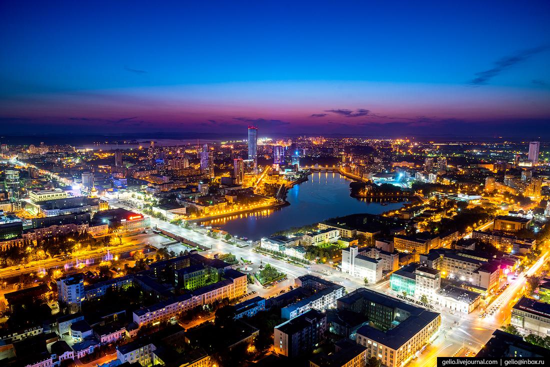 Екатеринбург с высоты - город, растущий вверх