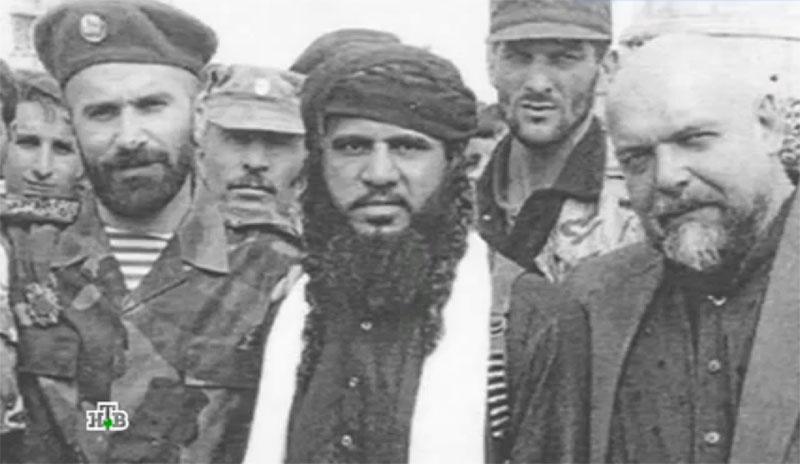 Гейдар Джемаль с Басаевым и Хаттабом.