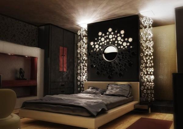 сочетание цветов в интерьере спальни коричневый чёрный бежевый