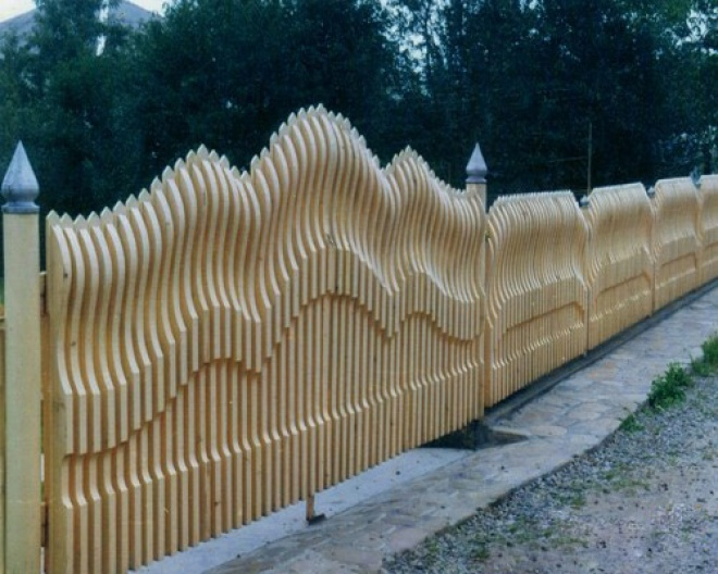 Делаем забор для дачи