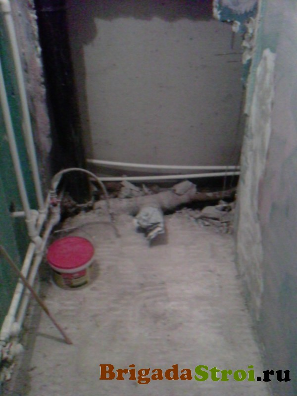 демонтаж в туалете