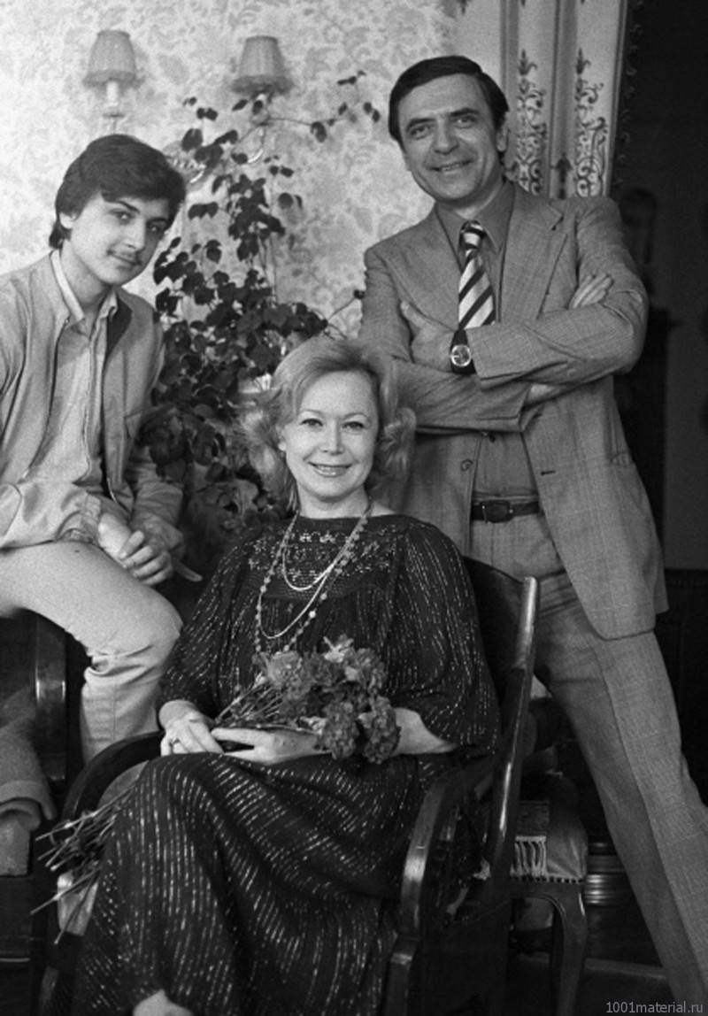 Светлана Немоляева и Александр Лазарев с его сына Александра. 1986 год. история, редкое, фото