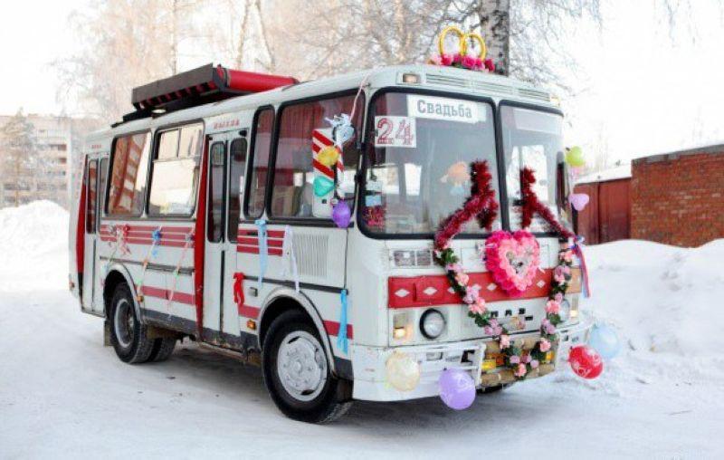 Как украшают автобусы на свадьбу