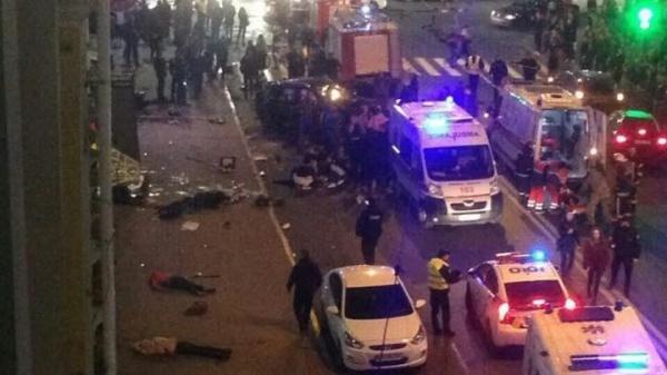 ВХарькове внедорожник протаранил толпу людей— пять человек погибли