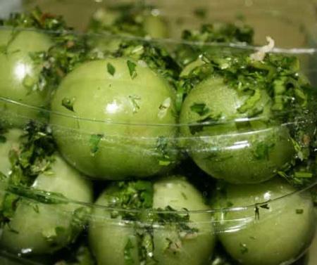 Рецепт - Зеленые помидоры по-грузински