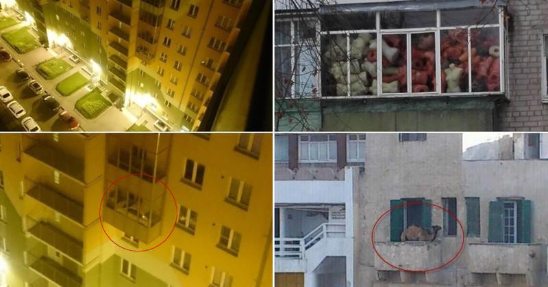 Что только не хранят на балконах