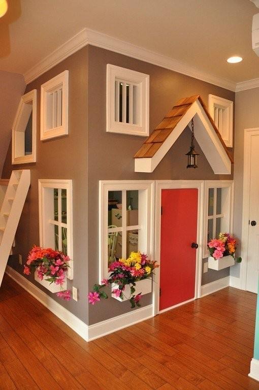 Сделать детский домик в квартире