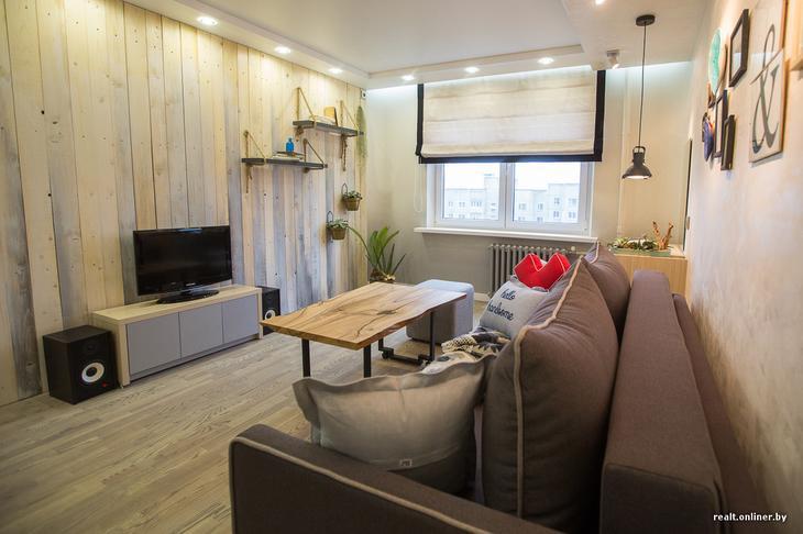 Три недели, $6 тысяч и экошик. Дизайнеры и строители сделали стильный ремонт в комнате молодой пары