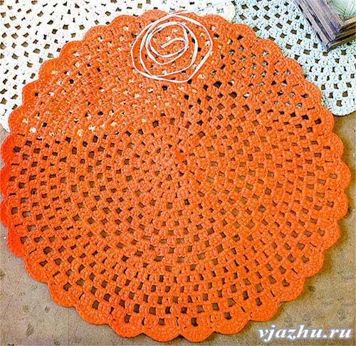круглый ажурный коврик