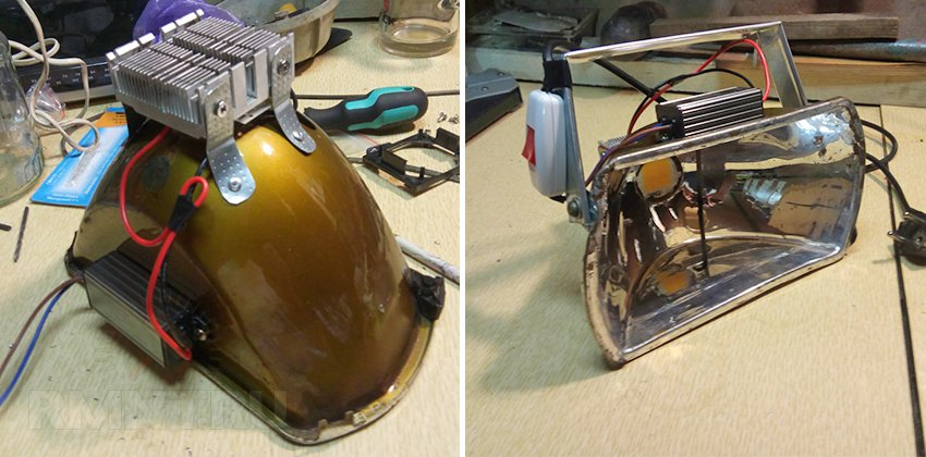 Светодиодные самодельные прожектора
