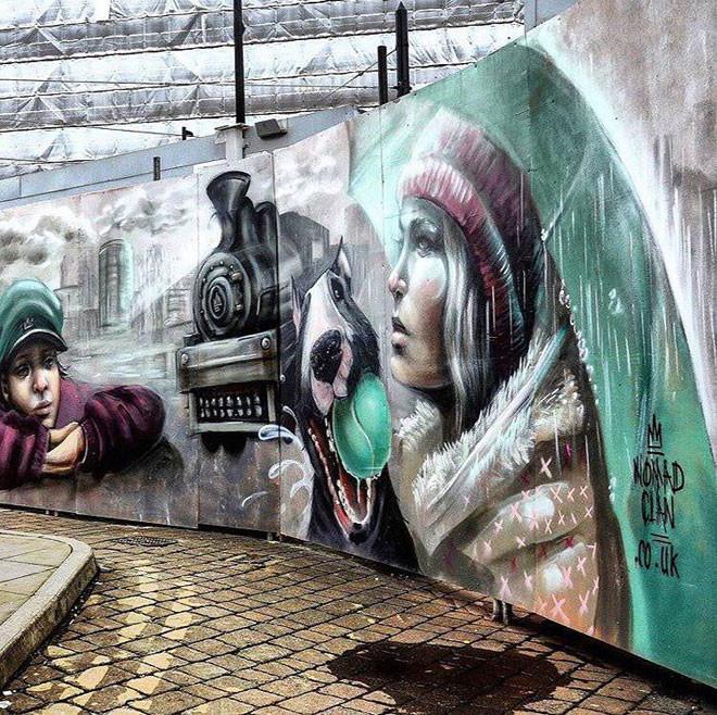 Nomad Clan (Великобритания) в мире, граффити, интересное, искусство, подборка, стрит-арт, уличное искусство